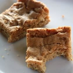 Blonde Brownies V Recipe - This recipe was a big hit at a party and with our family at home.  It can be frozen for up to a month.