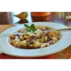 Best Italian Sausage Soup Recipe and Video - Italian sausage, zucchini and spinach fettucine are featured in this beef broth soup seasoned flavored with red wine, basil and oregano.