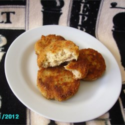 Jim's Salmon Patties Recipe - Spicy and flavorful salmon patties are ready in under an hour with this quick and easy recipe.