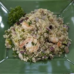 Shrimp and Quinoa Recipe - This delicious shrimp, quinoa, and vegetable recipe can be eaten hot as a main dish or cold as a salad.