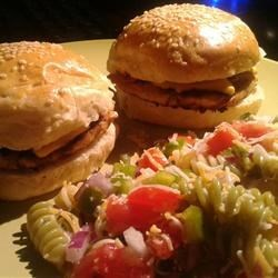 Teriyaki Chicken Burgers Recipe - Crushed pineapple and teriyaki sauce give fun flavor to ground chicken burgers in this quick and easy recipe.