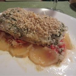 Catalan style baked fish