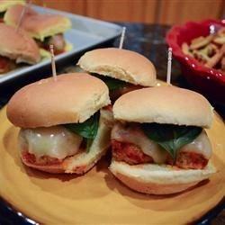 Chicken Meatball Parmesan Sliders