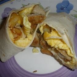Italian Chicken Sausage Breakfast Burritos