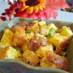 Cornbread Stuffing with Al Fresco Sweet Apple Chicken Sausage