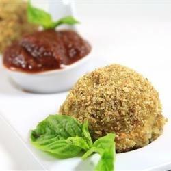 Roasted Garlic & Herb Chicken Sausage balls Stuffed w/Mozzeralla
