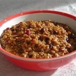 Cranberry-Orange Spiced Oatmeal