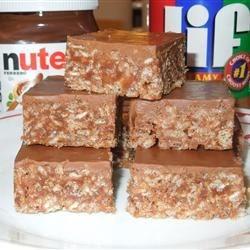Chocolate Nutella Scotcheroos