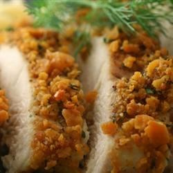 Cheezit and Herb Encrusted Chicken