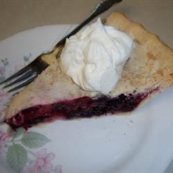 Mulberry Rhubarb Pie