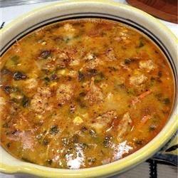 Texicajun Chicken Soup with Mucho Gusto Gnocchi Dumplings