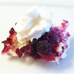 Emily's Blackberry Cobbler Recipe - This is the easiest dessert to make. If you pop it in the oven before you serve your meal, you will have a hot cobbler to plop a scoop of vanilla ice cream on for dessert.