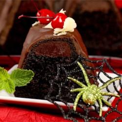 Chocolate Cherry Pudding Fudge Cake