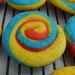 Playdough Cookies with Primary Colors