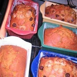 Mini Pumpkin Bread Loaves