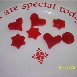 Mock Apple Rings Cut into Hearts & Stars