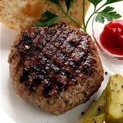 Asian Pork Burger Recipe - These ground pork burgers with apple and bell pepper are given an Asian flair with teriyaki sauce and ground ginger.
