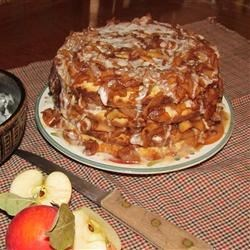 Apple Stack Cake Recipe - Thin layers of yellow cake are layered with a spiced dried-apple filling in this old-fashioned Southern favorite.
