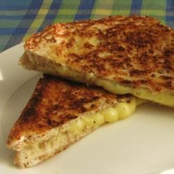 Quick and Easy Grilled Cheese Recipe - The traditional grilled Cheddar-cheese sandwich is elevated with an assortment of herbs.