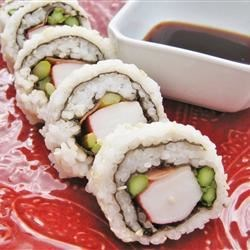 California Roll Sushi Recipe - Make your own delicious California sushi rolls with seaweed sheets, sweet and tangy sushi rice, cucumber, avocado, and a creamy imitation crab filling.