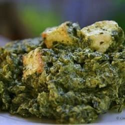 Authentic Saag Paneer Recipe - Saag paneer is a classic Indian dish of cooked spinach studded with cubed of fried paneer cheese. Thickened with cream or coconut milk, it's a hearty and filling vegetarian meal.