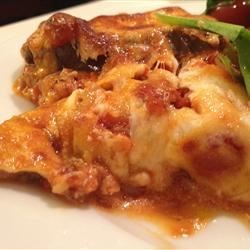 Eggplant and Goat Cheese Lasagna Recipe - This simple eggplant lasagna dish uses only three ingredients: eggplant, goat cheese, and pasta sauce. It is easy to assemble and easy to eat.
