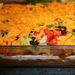 Healthier Seven Layer Taco Dip