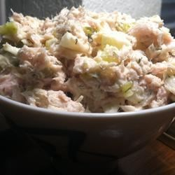 Southern Apple Tuna Salad Recipe - Canned tuna is given a fresh lift with chopped apple, sweet pickle relish, and dill in this tuna salad recipe.