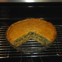 Italian Spinach Sausage Pie Recipe - This festive sausage pie is perfect for a holiday brunch or midnight snack.