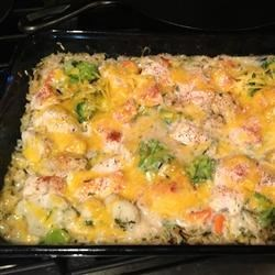One-Dish Chicken, Vegetable and Rice Bake Recipe - Cover and bake are welcome words in a busy world. This casserole can be mixed in 5 minutes, and then you have an hour to supervise homework, run an errand, or just relax while the oven prepares dinner.