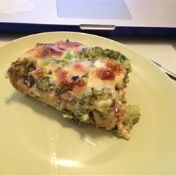 Breakfast Casserole I Recipe - Prepare day ahead and pop in the oven on a holiday morning! You may substitute ham or sausage for the bacon or the broccoli if you wish.