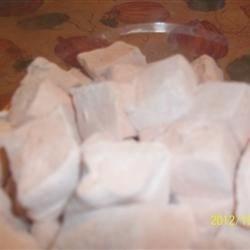 Orange-coconut marshmallows using the Spooky Homemade Marshmallow recipe from Karo here on AR.