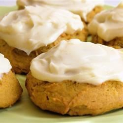 Pumpkin Cookies with Cream Cheese Frosting (The World's Best!) Recipe - Light, moist pumpkin cookies topped with homemade cream cheese frosting are perfect for Halloween, Thanksgiving, or just for a sweet little taste of fall.