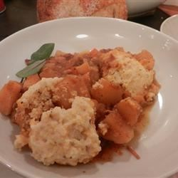 Pork Rib Stew with Sage Cornmeal Dumplings