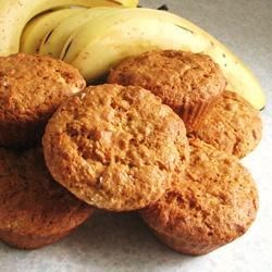 Emily's Famous Banana Oat Muffins  Recipe - I created these muffins to use up some bananas and have a nutritious snack for breakfast.