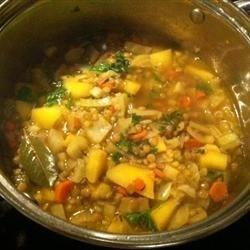Lentil Soup w/Golden Beets & Rutabaga