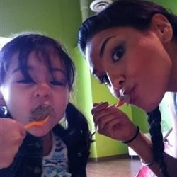 Frozen yogurt date with baby Jay and Mommy!