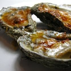 Grilled Oysters with Fennel Butter Recipe - A seasonal side dish or appetizer with fresh oysters and fennel.