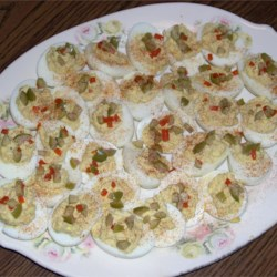 Southern Style Deviled Eggs Recipe - Deviled ham puts the Deviled into Deviled eggs.