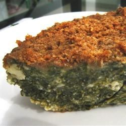 Spinach Pie Recipe - This is an easy recipe for spanikopita without the filo dough.