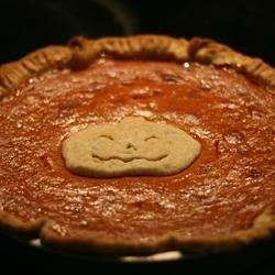 "Pumpkin Pie I Recipe - This is the only pumpkin pie recipe I've ever used. It's been in the family for at least sixty years! Since, in our family, one pie is never enough, I like to triple the filling recipe and divide it into two pie shells, since, as my Mom always says, ""No body likes a skimpy pie!""  (Of course, this will add a few minutes to the baking time, too.)"