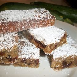 Zucchini Nut Bars Recipe - Another recipe to use up those pesky zucchini, turning your autumnal bounty into bar cookies with walnuts and dates.