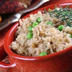 Easy Herb Rice Recipe - Dress up your rice with a variety of herbs and beef broth for a flavorful side dish.