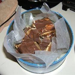 Christmas Crack (aka Cracker Candy or Toffee Bark)