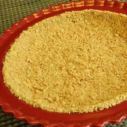 Graham Cracker Crust Recipe - This no-bake pie crust recipe uses softened butter instead of melted butter, producing a better consistency.