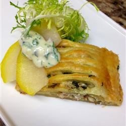 Triple Cream Brie and Poached Apple Strudel
