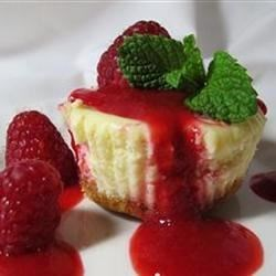 Mini Cheesecakes III Recipe and Video - This recipe makes 6 miniature cheesecakes in muffin cups. Excellent topped with fresh fruit or jelly.