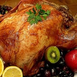 Roast Turkey With Tasty Chestnut Stuffing Recipe - Simple but seriously yummy.