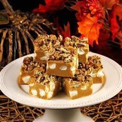Pumpkin Marshmallow Fudge