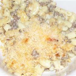 Cheesy Macaroni & Hamburger Casserole
